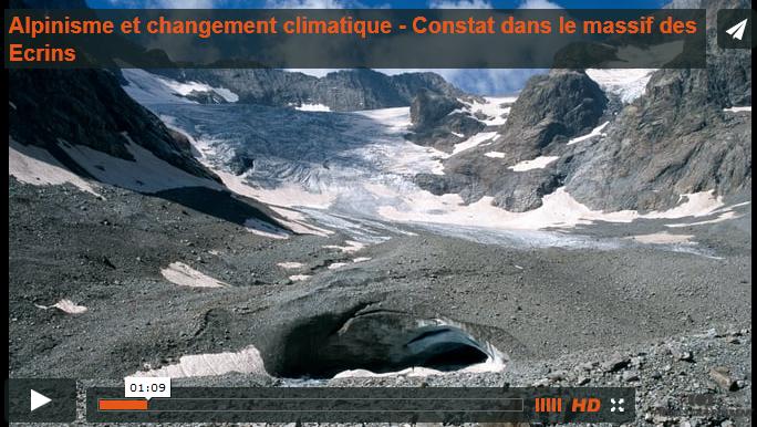 ecrins changement climatique